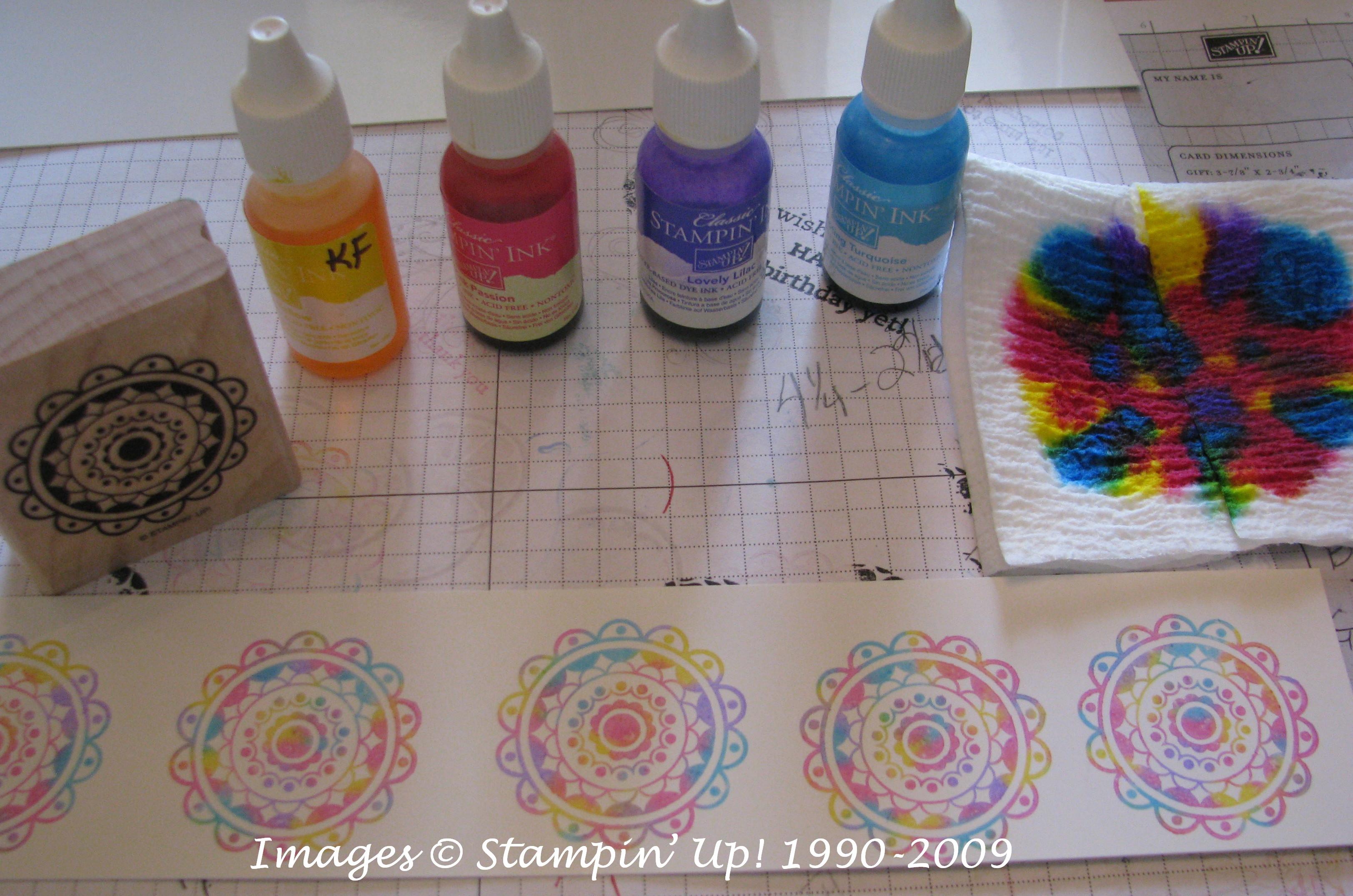 baby wipe stamping stamping with karen